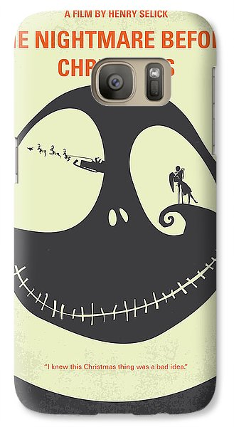 Pumpkin Galaxy S7 Case - No712 My The Nightmare Before Christmas Minimal Movie Poster by Chungkong Art