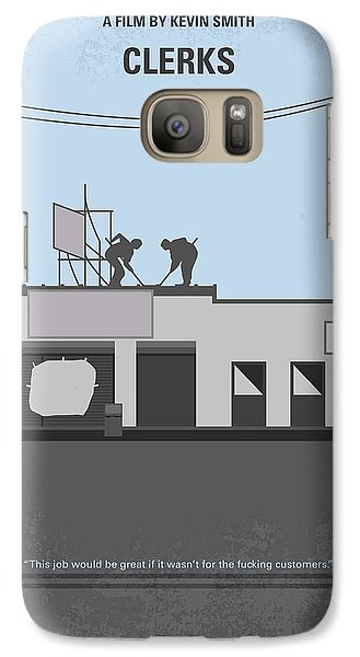 Hockey Galaxy S7 Case - No715 My Clerks Minimal Movie Poster by Chungkong Art