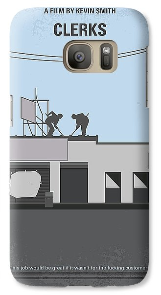No715 My Clerks Minimal Movie Poster Galaxy S7 Case by Chungkong Art