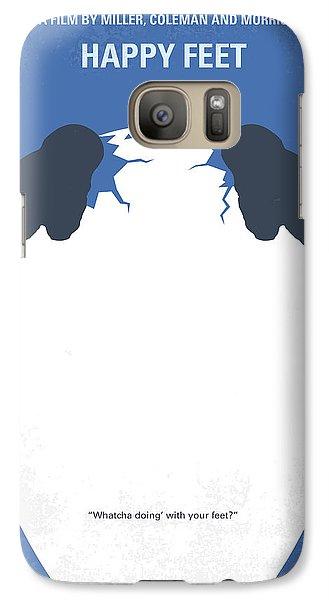 Penguin Galaxy S7 Case - No744 My Happy Feet Minimal Movie Poster by Chungkong Art
