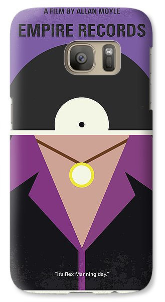 Galaxy Case featuring the digital art No750 My Empire Records Minimal Movie Poster by Chungkong Art