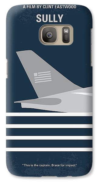 Galaxy Case featuring the digital art No754 My Sully Minimal Movie Poster by Chungkong Art