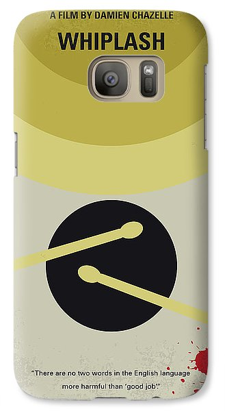 Galaxy Case featuring the digital art No761 My Whiplash Minimal Movie Poster by Chungkong Art