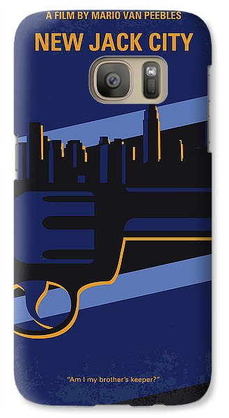 Galaxy Case featuring the digital art No762 My New Jack City Minimal Movie Poster by Chungkong Art