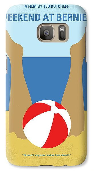 Galaxy Case featuring the digital art No765 My Weekend At Bernies Minimal Movie Poster by Chungkong Art