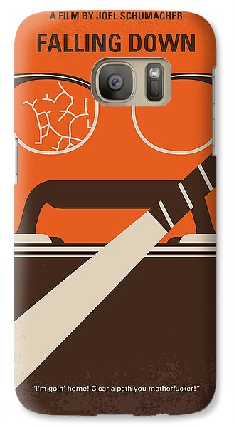 Galaxy Case featuring the digital art No768 My Falling Down Minimal Movie Poster by Chungkong Art