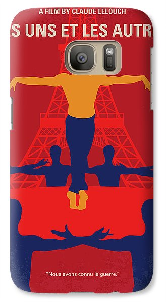 Galaxy Case featuring the digital art No771 My Les Uns Et Les Autres Minimal Movie Poster by Chungkong Art