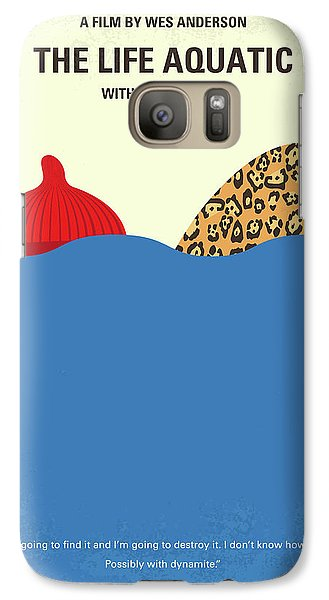 Galaxy Case featuring the digital art No774 My The Life Aquatic With Steve Zissou Minimal Movie Poster by Chungkong Art
