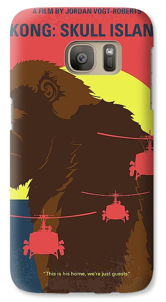 Helicopter Galaxy S7 Case - No799 My Skull Island Minimal Movie Poster by Chungkong Art