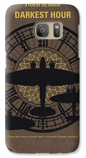 Westminster Abbey Galaxy S7 Case - No901 My Darkest Hour Minimal Movie Poster by Chungkong Art