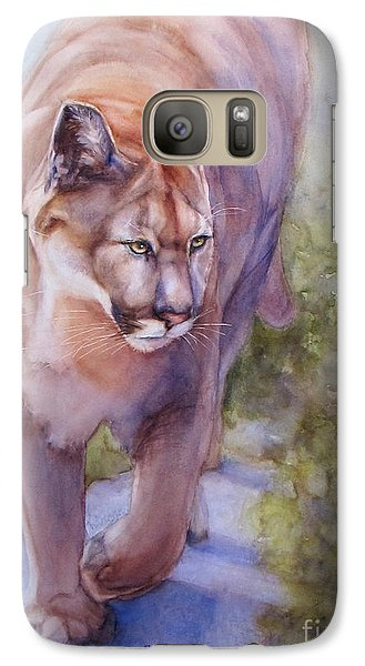 Galaxy Case featuring the painting Noble Cougar by Bonnie Rinier