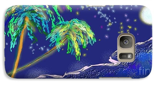 Galaxy Case featuring the painting Noche Tropical by The Art of Alice Terrill
