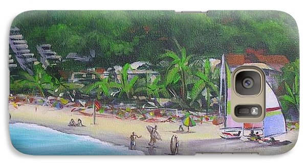 Galaxy Case featuring the painting Noosa Fun Acrylic Painting by Chris Hobel