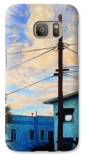Galaxy Case featuring the painting Normal Ave by Andrew Danielsen
