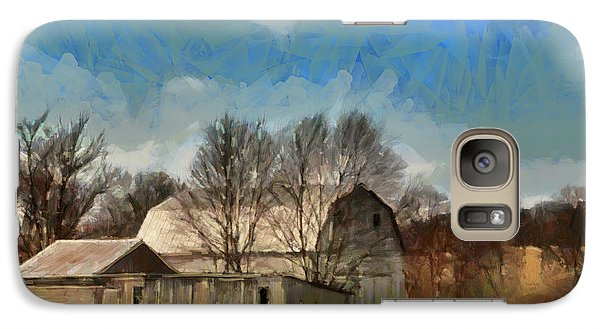 Galaxy Case featuring the mixed media Norman's Homestead by Trish Tritz