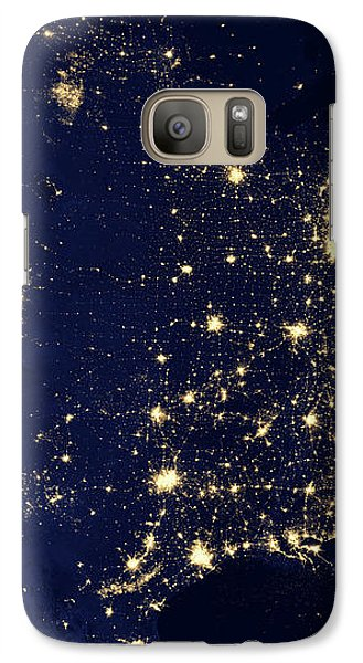 North America At Night Galaxy Case by Happy Home Artistry