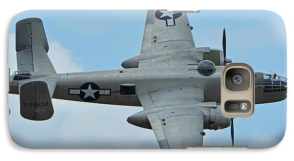 Galaxy Case featuring the photograph North American B-25j Mitchell N9856c Pacific Princess Chino California April 30 2016 by Brian Lockett