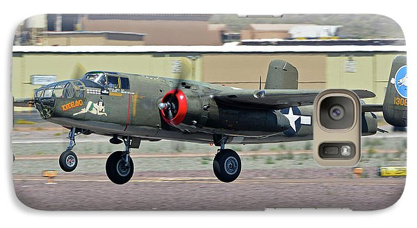 Galaxy Case featuring the photograph North American B-25j Mitchell Nl3476g Tondelayo Deer Valley Arizona April 13 2016 by Brian Lockett