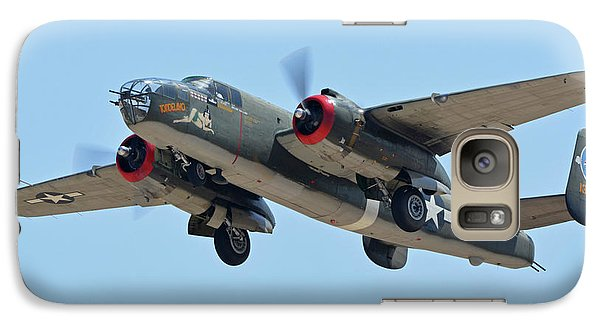Galaxy Case featuring the photograph North American B-25j Mitchell Nl3476g Tondelayo Phoenix-mesa Gateway Airport Arizona April 15, 2016 by Brian Lockett