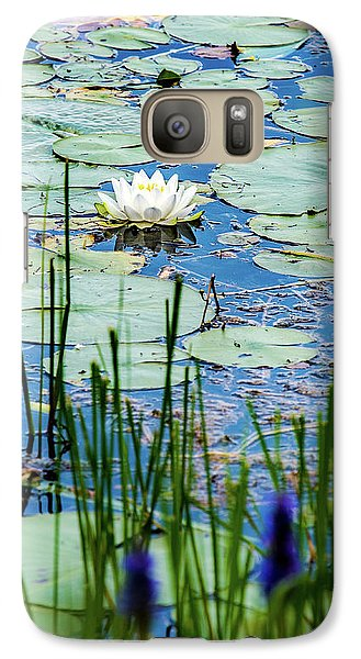 North American White Water Lily Galaxy S7 Case