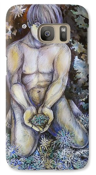 Galaxy Case featuring the drawing North by Anna  Duyunova