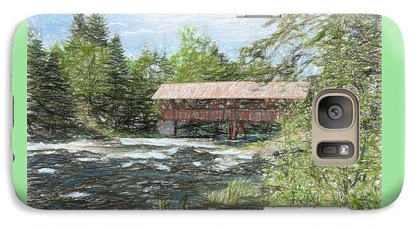 Galaxy Case featuring the digital art North Country Bridge by John Selmer Sr