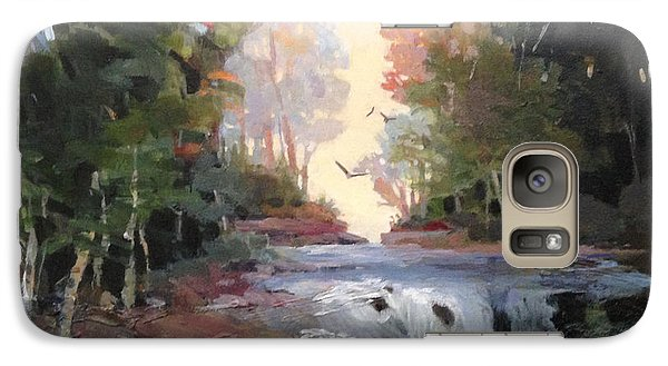 Galaxy Case featuring the painting North Creek ...revisited by Helen Harris
