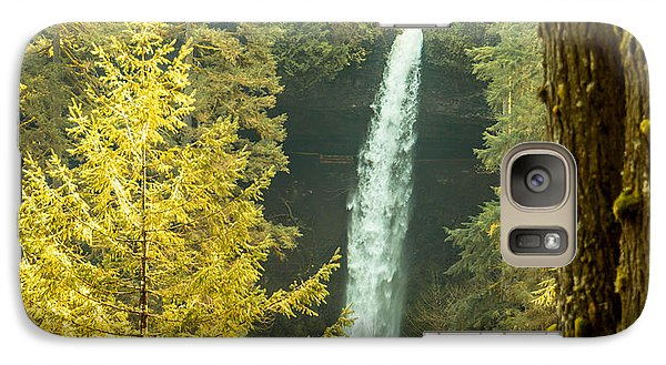 Galaxy Case featuring the photograph North Falls by Jerry Cahill