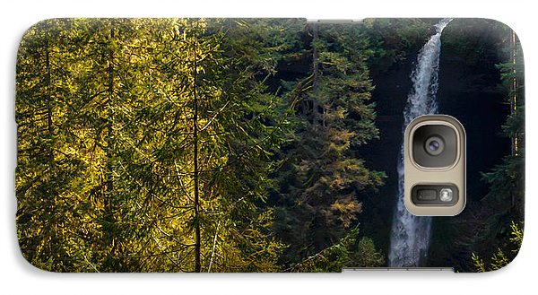 Galaxy Case featuring the photograph North Falls View by Jerry Cahill