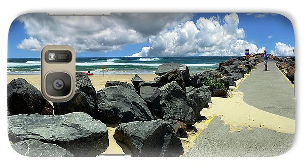 North Haven Breakwater Walkway By Kaye Menner Galaxy S7 Case