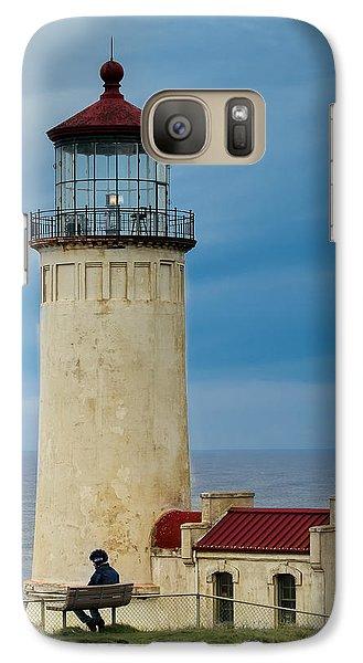 Galaxy Case featuring the photograph North Head Lighthouse by E Faithe Lester