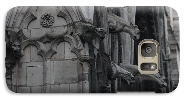 Galaxy Case featuring the photograph North Side Notre Dame Cathedral by Christopher Kirby