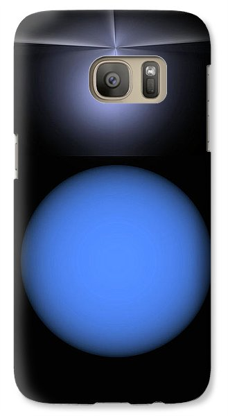 Galaxy Case featuring the digital art North Star by John Krakora