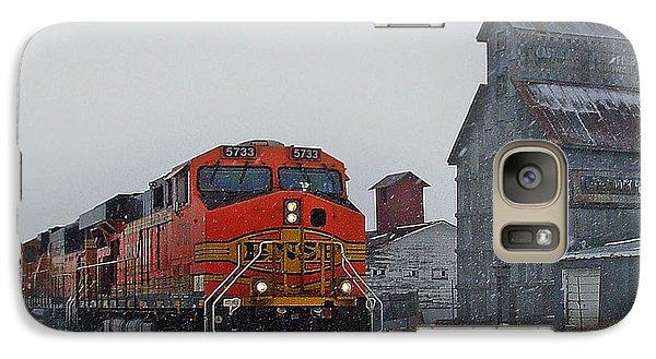 Train Galaxy S7 Case - Northbound Winter Coal Drag by Ken Smith