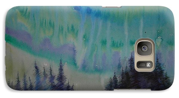Galaxy Case featuring the painting Northern Light by Anna  Duyunova