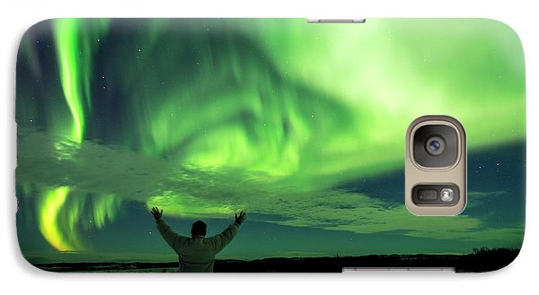 Northern Light In Western Iceland Galaxy S7 Case by Dubi Roman