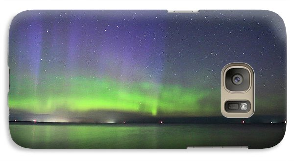 Galaxy Case featuring the photograph Northern Light With Perseid Meteor by Charline Xia