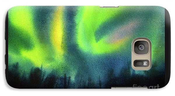 Galaxy Case featuring the painting Northern Lights 3 by Kathy Braud