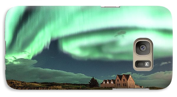 Galaxy Case featuring the photograph Northern Lights by Frodi Brinks