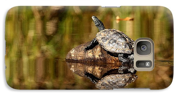 Galaxy Case featuring the photograph Northern Map Turtle by Debbie Oppermann