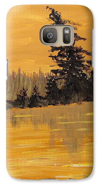 Galaxy Case featuring the painting Northern Ontario Three by Ian  MacDonald