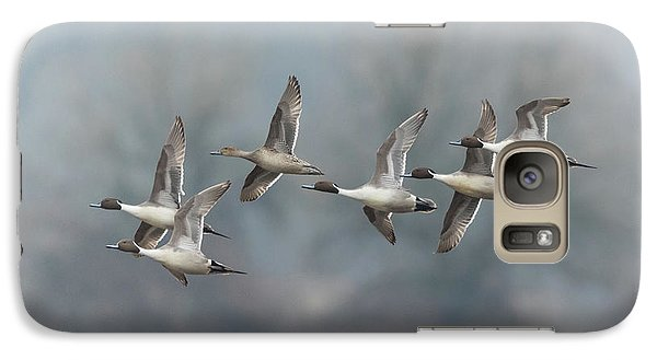 Galaxy Case featuring the photograph Northern Pintails In Flight by Angie Vogel