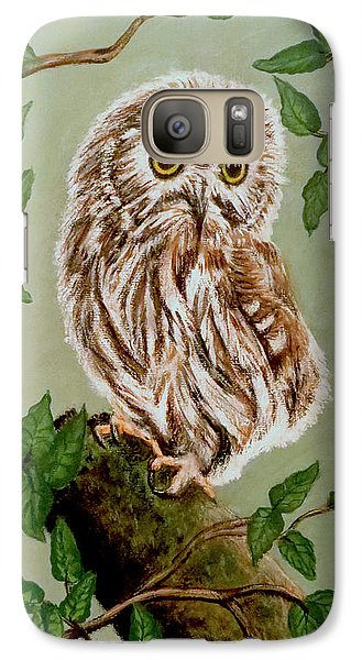 Northern Saw-whet Owl Galaxy S7 Case by Teresa Wing