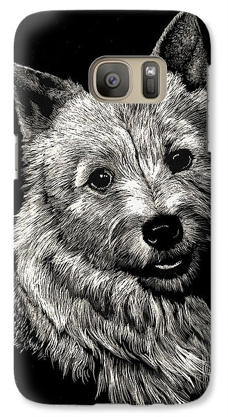 Galaxy Case featuring the drawing Norwich Terrier by Rachel Hames