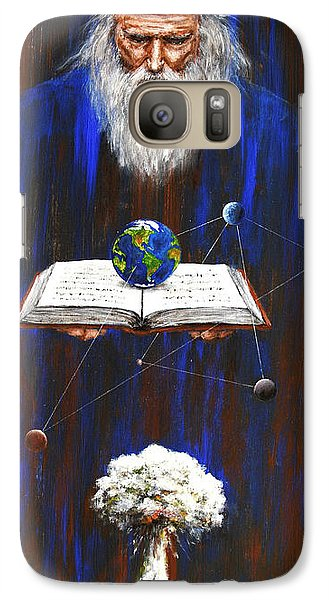 Galaxy Case featuring the painting Nostradamus by Arturas Slapsys