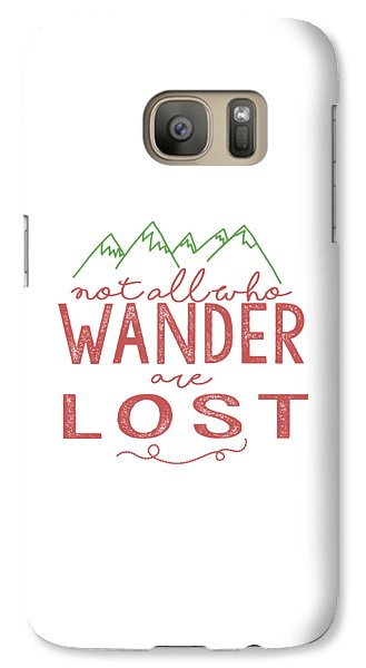 Galaxy Case featuring the digital art Not All Who Wander Are Lost In Pink by Heather Applegate