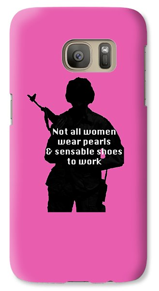 Galaxy Case featuring the photograph Not All Women by Melany Sarafis