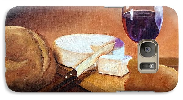 Galaxy Case featuring the painting Not By Bread Alone  by Susan Dehlinger