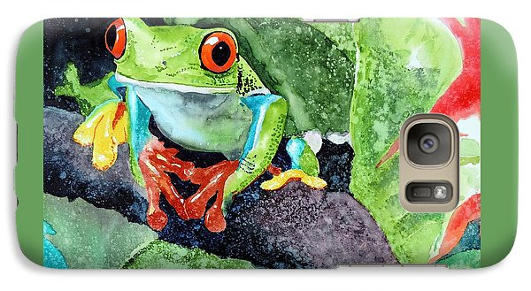 Galaxy Case featuring the painting Not Kermit by Tom Riggs
