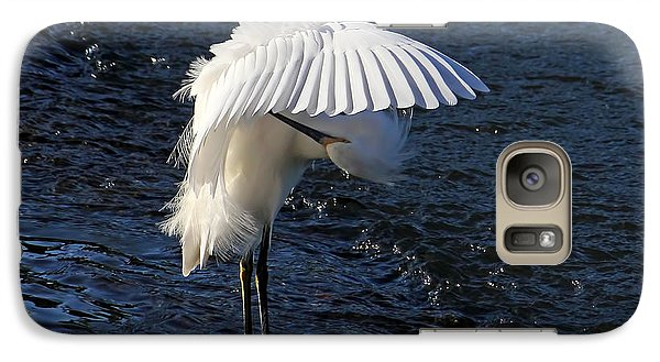 Galaxy Case featuring the photograph Not Under Here - Birds - Snowy Egret by HH Photography of Florida